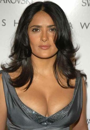 See mama Salma Hayek breastfeeding.